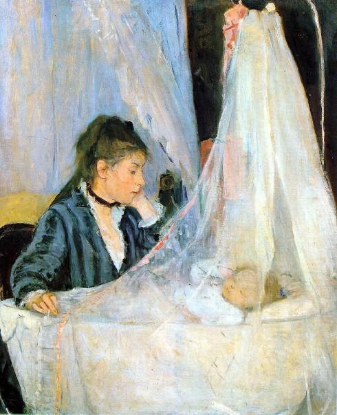 Berthe Morisot, Le berceau (The Cradle), 1872