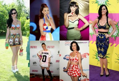 Những chiếc áo crop top với màu sắc sặc sỡ hay phụ kiện cá tính là điểm đặc trưng cho phong cách của Katy Perry