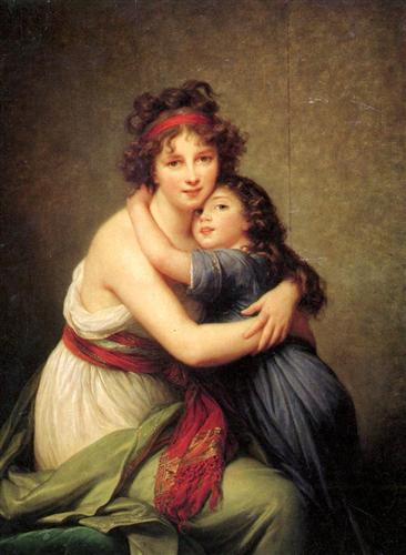 Madame Vigee Lebrun and Her Daughter Jeanne Lucie Louise 1789