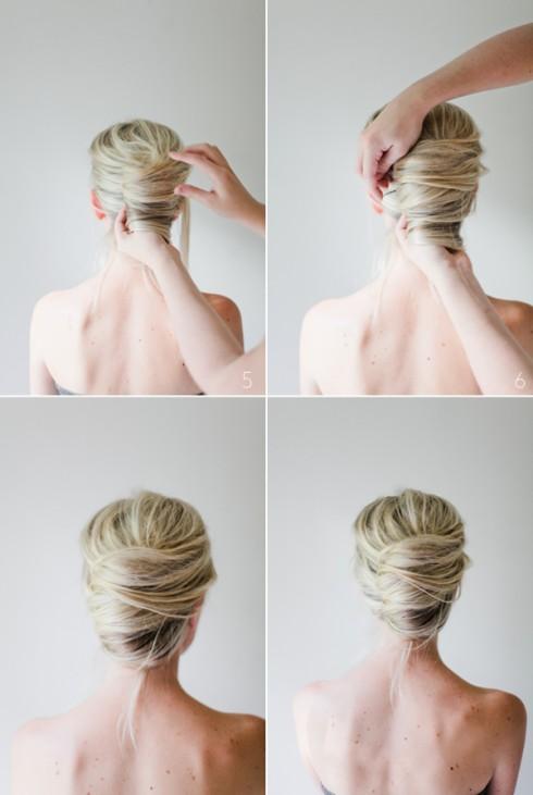 Tóc bới đơn giản