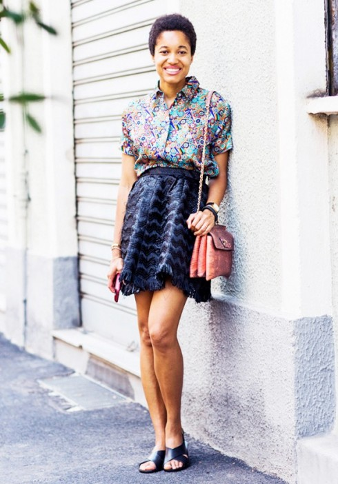 Blogger Tamu Mcpherson và kiểu dép sandal nữ