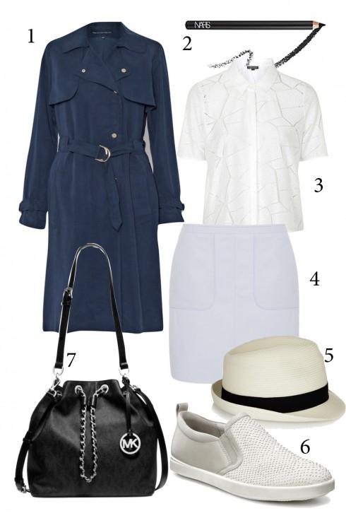 Thứ 3: Phong cách với áo khoác dáng dài<br/>1. FRENCH CONNECTION 2. NARS 3. TOPSHOP 4. FCUK 5. MELISSA 6. ECCO 7. MICHEAL KORS