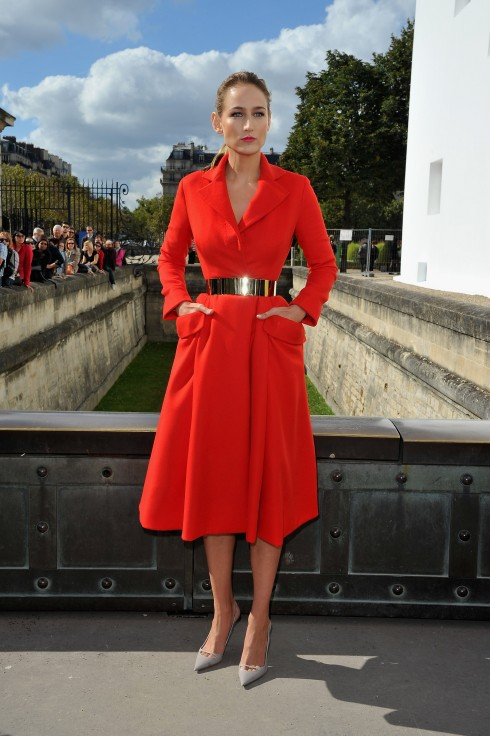 Christian Dior: Arrivals - Paris Fashion Week Womenswear Spring / Summer 2013
