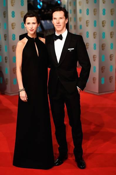 Benedict Cumberbatch diện bộ suit của Alexander McQueen tham dự lễ trao giải The EE British Academy Film Awards tại London ngày 8/2