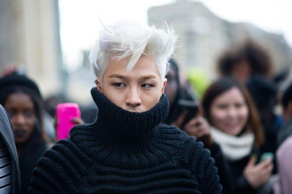 taeyang tóc bạch kim