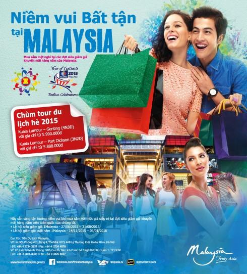 Niềm vui bất tận du lịch Malaysia