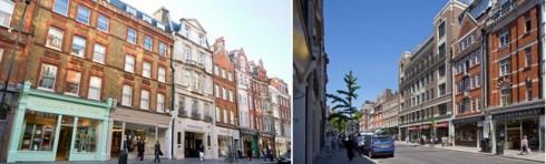 Dãy phố Marylebone High Street tập trung những thương hiệu cao cấp