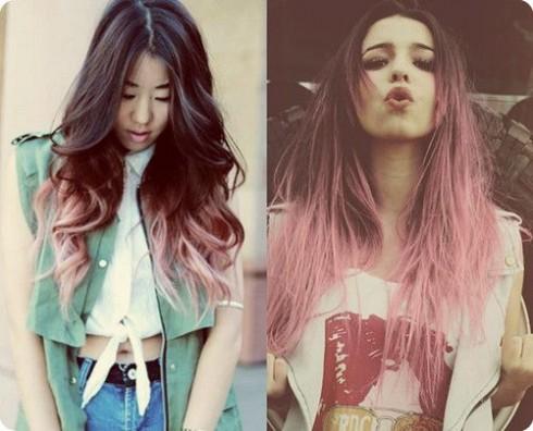 Tông màu hồng cho tóc cũng rất ấn tượng