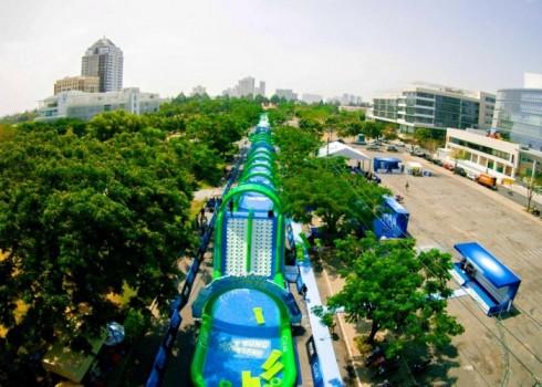 Khai trương đường trượt ngoài trời dài nhất Việt Nam