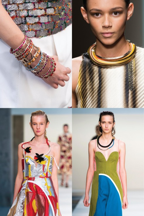 Theo chiều kim đồng hồ: Chanel, Salvatore Ferragamo, Marni, Marni