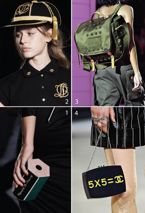 1&2.Olympia Le-Tan 3.Marc Jacobs 4.Chanel