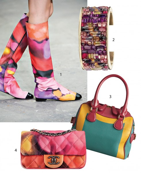 1&2.Chanel 3.Túi Bee Bag của Burberry Prorsum 4.Mẫu túi Flap Bag của Chanel