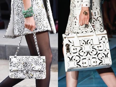 Từ trái qua: Chanel, Versace