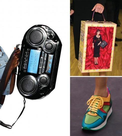 Từ trái qua: Moschino, Dolce & Gabbana, Burberry Prorsum
