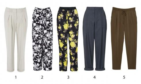 1.Warehouse 2.Oasis 3.Topshop 4.Topshop 5.Mango