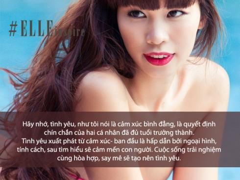 Câu nói hay của siêu mẫu Hà Anh