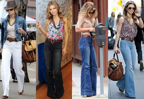 Phong cách thập niên 70 với Jeans