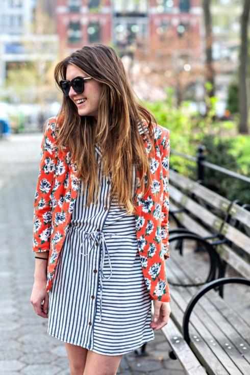 Stripes on Floral