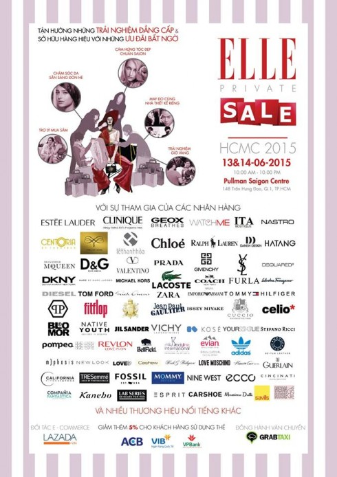 ELLE Private Sales 2015 tai Pullman