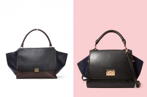 Chiếc túi của Céline bên trái vs túi nhái của Forever 21 bên phải
