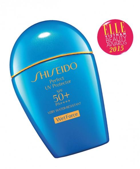 <strong>1. SHISEIDO PERFECT UV PROTECTOR SPF 50+/PA++++</strong><br/>Đây là sản phẩm chống nắng mới nhất của Shiseido với công nghệ mới vô cùng độc đáo Wetforce. Công nghệ Wetforce chứa các hạt ion cảm biến khoáng chất khi tiếp xúc với nước và mồ hôi sẽ tạo thành lớp màng chống nước vững chắc. Sản phẩm mỏng nhẹ, thẩm thấu nhanh trên da, tạo thành lớp bảo vệ da vững chắc khỏi những tổn thương do tia UV và các tác nhân có hại khác từ môi trường bên ngoài, ngay cả dưới nước. Giá: 930.000 VNĐ