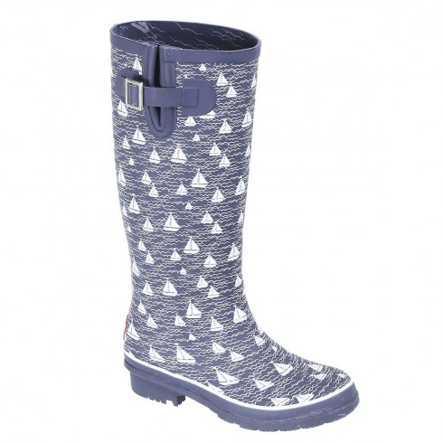 Bốt Brakeburn<br/>Brakeburn Ladies Boats And Waves Welly Wellington Boot