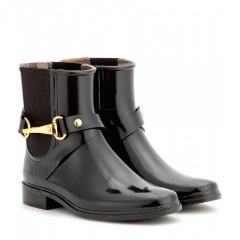 Bốt Burberry<br/>Burberry Glossed-Rubber Rain Boots