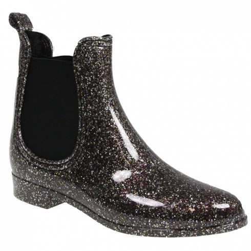 Bốt Dorothy Perkins<br/>Dorothy Perkins Pewter Glitter Ankle Wellies