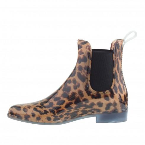 Bốt J.Crew<br/>J.Crew Chelsea Leopard Rain Boots