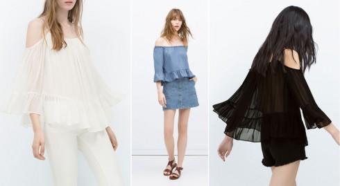 Những thiết kế trễ vai mới nhất của Zara