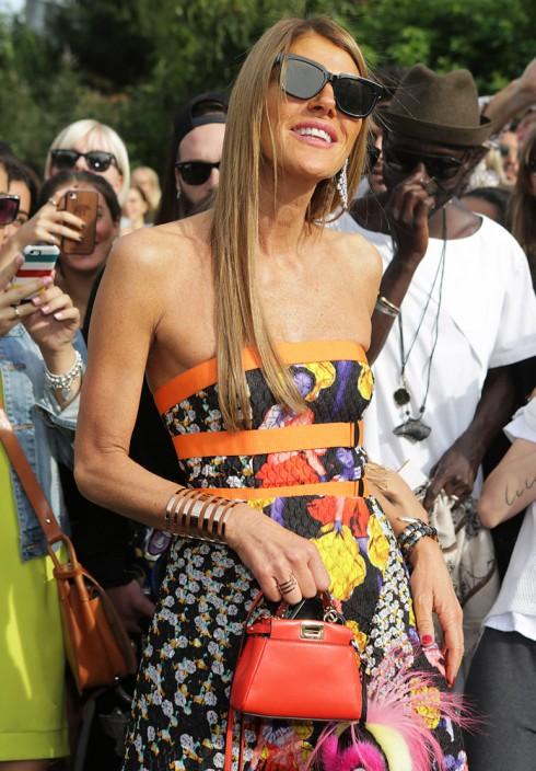 Anna Dello Russo và túi xách nữ đẹp của Fendi