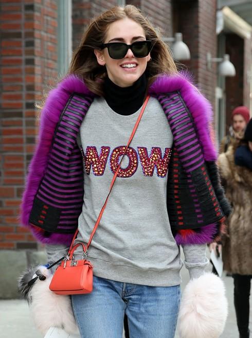 Chiara Ferragni và và túi xách nữ đẹp của Fendi