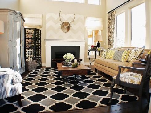 Sơn những tông màu sáng để khoảng không gian phòng khách trong rộng hơn