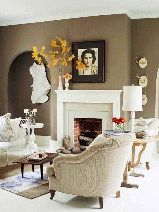 Gợi ý trang trí nội thất phòng khách cho mùa thu