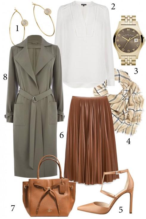 Thứ 5: Một chiếc áo khoác dáng dài sẽ tăng thêm phong cách cho bộ đồ của bạn<br/>1. ACCESSORIZE 2. WAREHOUSE 3. MBMJ 4. ACCESSORIZE 5. NINE WEST 6. MANGO 7. COACH 8. OASIS