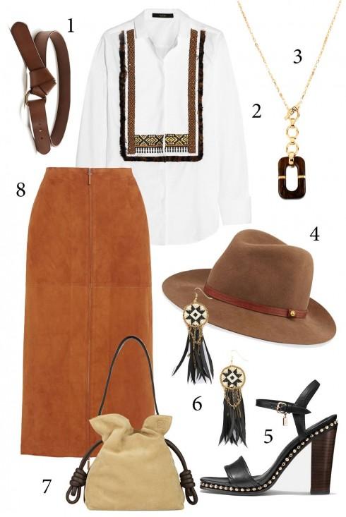 Thứ 6: Phong cách du mục với áo họa tiết tribal<br/>1. BANANA REPUBLIC 2. ETRO 3. DVF 4. RAG& BONE 5. COACH 6. FIONA 7. LOEWE 8. THE ROW