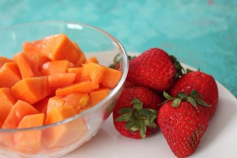 papaya-strawberry-mixed
