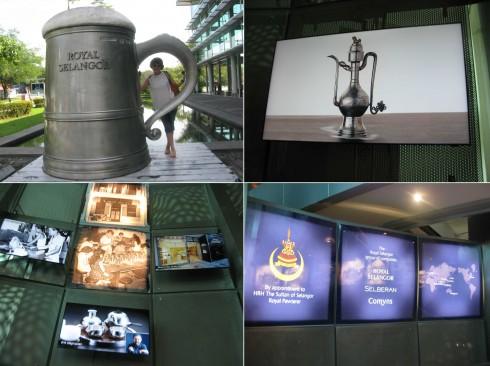 Những hình ảnh lưu giữ lại lịch sử và các giai đoạn phát triển được trưng bày dọc đường vào khu xưởng sản xuất để khách có thể khám phá và hiểu hơn về xưởng thiếc này.