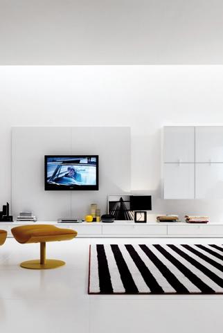 Nội thất phòng khách theo phong cách tối giản