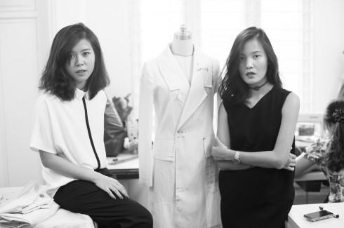 Hai nhà thiết kế trẻ của thương hiệu thời trang Wephobia: Minh Anh và Cúc Nguyễn