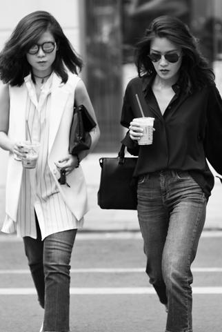 2 cô gái cá tính yêu phong cách menswear