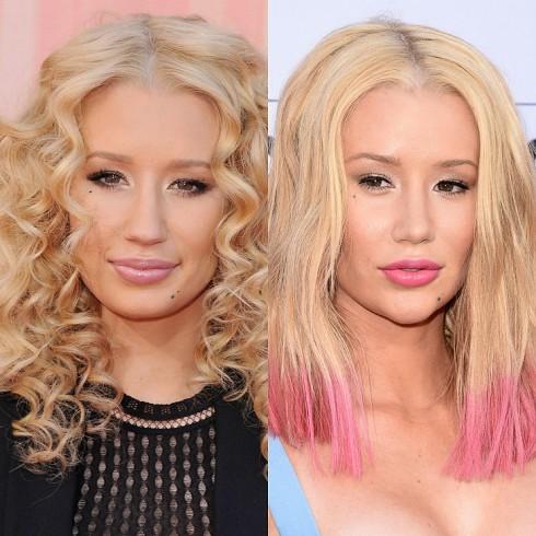 Iggy Azalea làm mới mái tóc vàng quen thuộc bằng cách nhuộm ombre màu hồng ở đuôi tóc