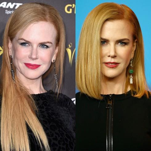 Nicole Kidman như trẻ hơn 10 tuổi với kiểu tóc ngang vai phồng cúp tôn lên khuôn mặt