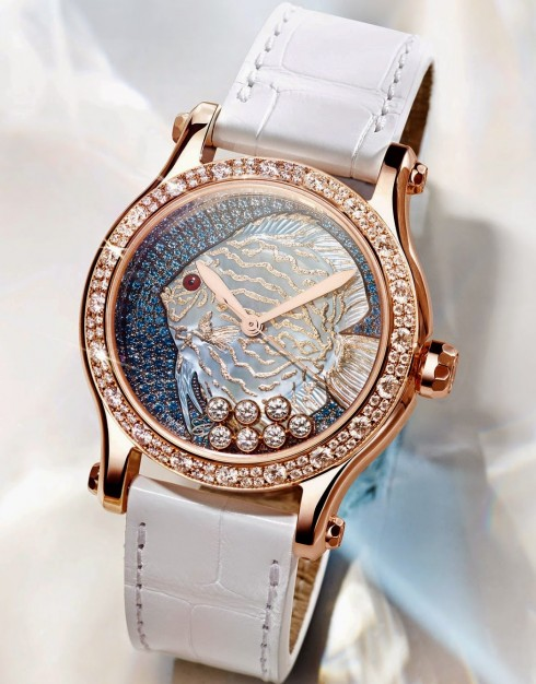 Dong ho nu dep Chopard-Métiers-d'art-Happy-Fish
