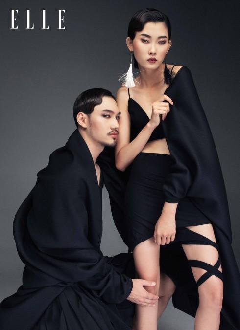 Kim Nhung:  Áo PHI PHẠM & TRANG KHIẾU Chân váy DIESEL - Lý Quí Khánh: Trang phục MAISON KENJI