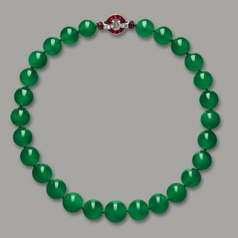 Dang cap cua Hutton Mdivani Jadeite Necklace