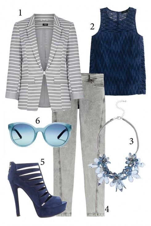 Cách đơn giản nhất để mặc quần jeans đến công sở: mặc cùng áo sơ mi hoặc áo thun đơn giản, đi giày cao gót và khoác một chiếc áo khoác blazer.<br/>1. OASIS 2. J.CREW 3. COAST 4. KENZO 5. GUESS 6. TORY BURCH