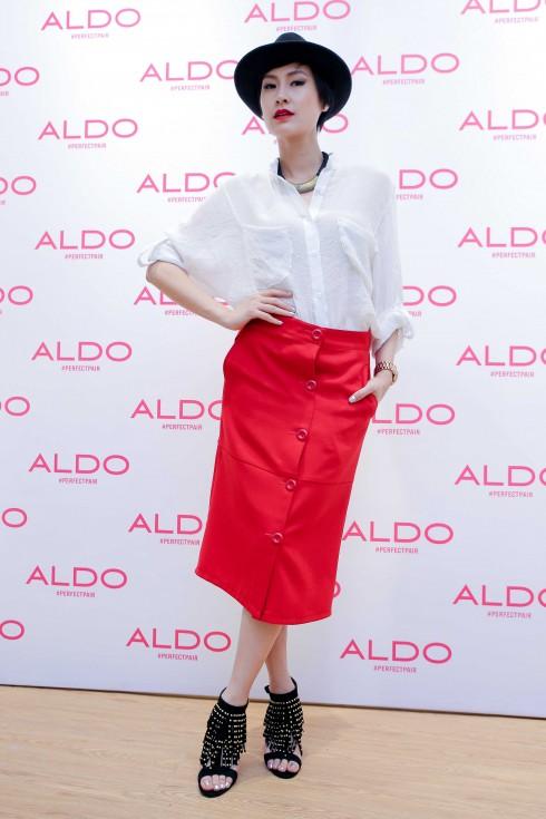 Ms. Kathy Uyên đến tham dự event khai trương ALDO tại VivoCity 2