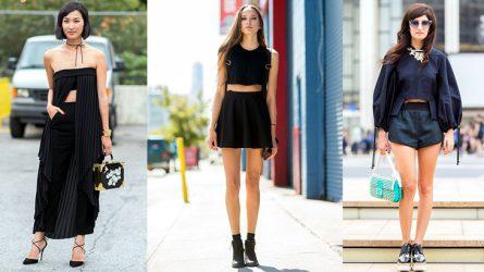 Cách phối đồ đẹp cho nữ với gam màu đen