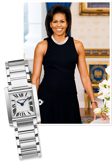 dong ho nu hang hieu Cartier Tank Michelle Obama
